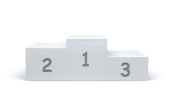 Podium. On clean white background Stock Photography