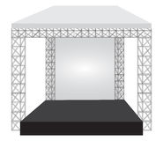 Podium concert stage. Performance show entertainment Royalty Free Stock Photography