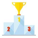 Podium cup winner icon Stock Photography