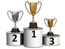 Podium Cups Stock Images