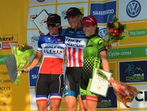 Podium de Cyclocross Images stock