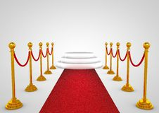 Podium de gagnant avec le tapis rouge Image libre de droits