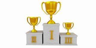 Podium de los ganadores Imágenes de archivo libres de regalías