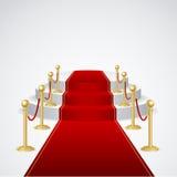 Podium de vecteur avec le tapis rouge Images libres de droits