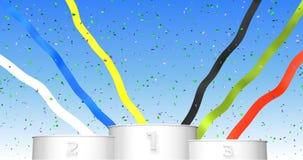 Podium des Sports 3d für Siegerehrung 3d übertragen Illustration Lizenzfreie Stockfotos