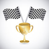 Podium design. Over gray background vector illustration Royalty Free Stock Images