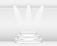Podium. Empty podium illuminated with spotlights Royalty Free Stock Image