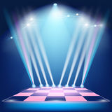 Podium floodlights and spotlights Royalty Free Stock Image
