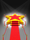 Podium gwiazda w świetle reflektorów zdjęcie royalty free
