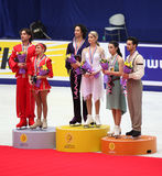 Podium - Ice dance Stock Images