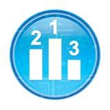 Podium icon floral blue round button vector illustration