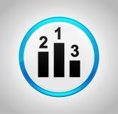 Podium icon round blue push button vector illustration