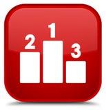 Podium icon special red square button Stock Photo