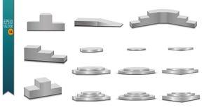 Podium, isolated on a transparent background. 3d pedestal. Vector illustration. Eps 10 vector illustration