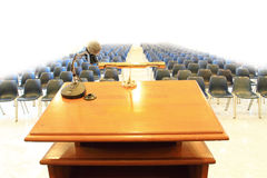 Podium in meeting room royalty free stock images