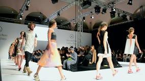 Podium, Mercedes Benz Kiev Fashion Days, stock video footage