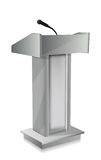 Podium with mic Stock Photo