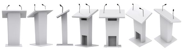Podium with microphone vector illustration