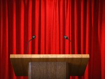 Podium with microphone stock photos