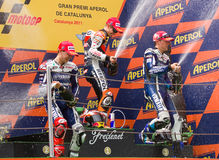 Podium of MotoGP Grand Prix of Catalonia Stock Image