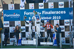 Podium penultimete Dutch GT4 race Royalty Free Stock Images