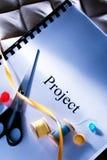 Podium project idea Stock Photo