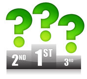 Podium with question marks illustration design Royalty Free Stock Photography