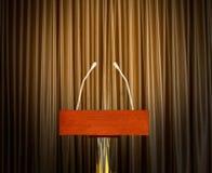 Podium ready to address Stock Photos