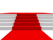 Podium with red carpet Royalty Free Stock Photography