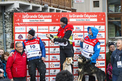 Podium Remy COSTE the winner of the GRANDE ODYSSEE Royalty Free Stock Photography