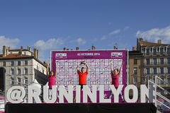 Podium for Run in Lyon Royalty Free Stock Images