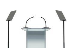 Podium set - Public speaking concept. Stock Image