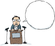 Podium Speaker Royalty Free Stock Image