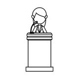 Podium of speech isolated icon Stock Photos