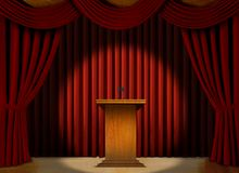 Podium in a spot light on stage Stock Photo