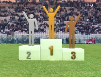 Podium in the stadium Stock Image