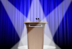 Podium on stage. Image of speech podium on stage Stock Image