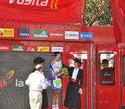 Podium stage 6 of the Tour of spain 2011 Stock Photography