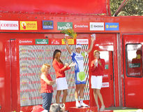 Podium stage 6 of the Tour of spain 2011 Royalty Free Stock Photography