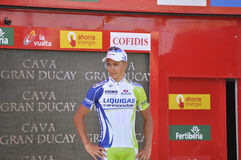 Podium stage 6 of the Tour of spain 2011 Stock Images