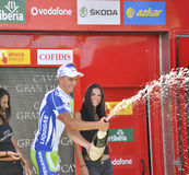Podium stage 6 of the Tour of spain 2011 Royalty Free Stock Photos