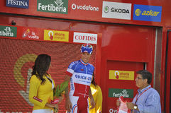 Podium stage 6 of the Tour of spain 2011 Stock Photo