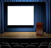 Podium On Stage Royalty Free Stock Photos