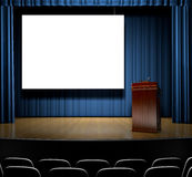 Podium On Stage Stock Photography