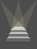 Podium with steps and lighting. Pedestal with three steps. Produ. Ct stand. Vector illustration does not contain transparency effects and overlay Stock Photo