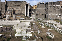 Podium of the Temple of Mars in the Forum of Augustus Stock Photos
