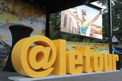 Podium of Tour de France Stock Photography