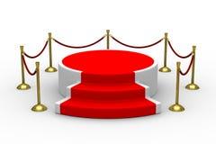 Podium on white background Royalty Free Stock Images