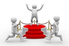 Podium on white background Royalty Free Stock Image
