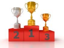 Podium with winner Royalty Free Stock Photos